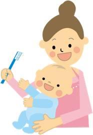 乳児の歯磨き1